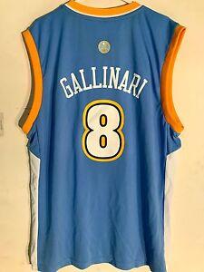 Adidas NBA Jersey Denver Nuggets Danilo Gallinari Light Blue sz M