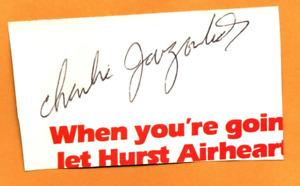 NASCAR Charlie Jarzombek original hand signed autograph
