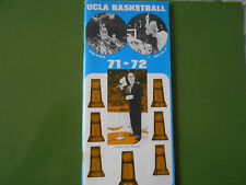 1971-72 UCLA BASKETBALL MEDIA GUIDE Yearbook 1972 NCAA CHAMPS! Program Book AD