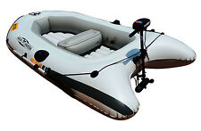 2.6m INFLATABLE DINGHY BOAT TENDER RIB WITH MOTOR