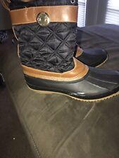 Tommy Hilfiger Women's Size 11 Black/brown  Arcadia Snow Winter Rain Boots