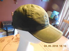 MEN'S WIGENS  WAXED COTTON BASEBALL CAP WITH FOLDING BRIM  NEW  XLARGE  Olive