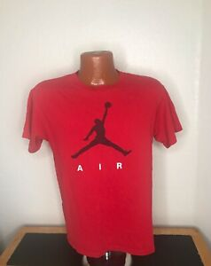 Boys Nike Air Jordan S/S Athletic T-Shirt Size Extra Large XL - Red - Cotton