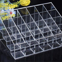 24 Lipstick Holder Display Stand Cosmetic Organizer Makeup Case Clear