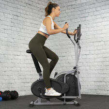 2 in 1 Exercise Elliptical Machine Cross Trainer Bike Cardio Fitness Heart Pulse