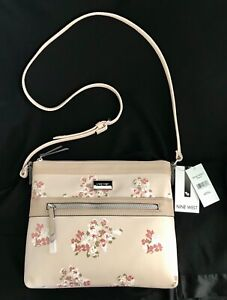 NINE WEST FAWN FLORAL CORALIA  SHOULDER PURSE HANDBAG ZIP BRAND NEW WITH TAGS