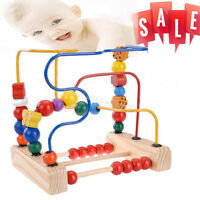 Bead Maze Toy for Toddlers Wooden Colorful Roller Coaster Educational Circle Toy