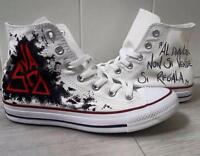 Converse All Star Custom Skeleton Crew Handmade Hand drawn painted ...