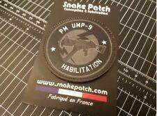 snake patch - HABILITATION UMP 9 - brevet Police gendarmerie ARTICLE FANTAISIE