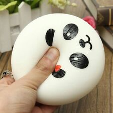 2 Pcs Cute Panda Squishy Bread Charms Jumbo Chubby Bag Phone Pendant Kid Toys
