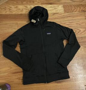 NEW Patagonia Black R1® Fleece Full-Zip Hoody Men's Small