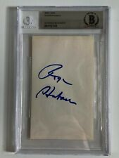 Roger Staubach Dallas Cowboys Signed Autograph Index Card BAS Beckett
