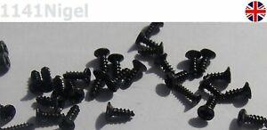 M1.4 x 4mm, 5mm, 6mm, 8mm, 10mm Black Phillips Flat Head Countersunk Wood Screws