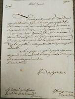 1830 119)LETTERA AUTOGRAFA CARDINALE GIUSEPPE ALBANI SU PORTO DI PONTELAGOSCURO