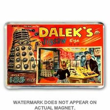 RETRO 60's -DOCTOR WHO - DALEKS JIGSAW BOX ART JUMBO FRIDGE MAGNET