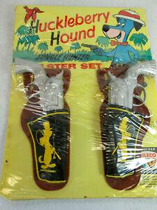 Vintage 1962 Huckleberry Hound Jungle Hunter holster & Daisy cap gun set