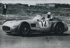 Stirling MOSS SIGNED Photo MOTOR Racing Goodwood GP Legend AFTAL COA Autograph