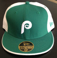 Philadelphia Phillies NEW ERA 59FIFTY Fitted Hat Cooperstown Retro GREEN 7 5/8
