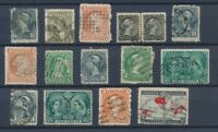 CANADA : Lot of 15 very old Stamps . Good used stamps High CV$400 A2065