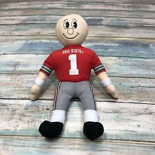 Ohio State Buckeyes Football Vintage Bean Bag Plush Jersey #1 Osu Memorabilia