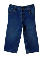 Baby Boys M&S Blue Denim Classic Fit Elasticated Waist Jeans Age 18-24 Months