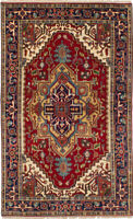 "Hand-Knotted Carpet 4'10"" x 8'0"" Traditional Oriental Wool Area Rug"