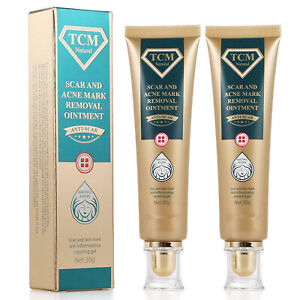 2 Pack TCM Scar Removal Gel and Acne Mark Removal Cream Ointment, Anti-inflammat