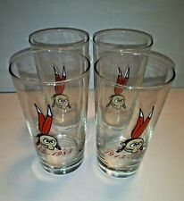 Cleveland Indians Chief Wahoo set of 4 glasses