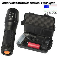 6000lm Genuine SHADOWHAWK X800 Tactical Flashlight LED Zoom Military Torch G700