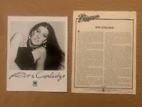 Rita Coolidge 1978 Original A&M Records 2 Page Biography & Press Photo Excellent
