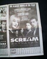 Best SCREAM & BEAVIS AND BUTT-HEAD Movies Opening Day ADS 1996 L.A. CA Newspaper