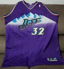 Vintage 100% Authentic Karl Malone Utah Jazz Purple Procut Game Jersey sz 52 XXL
