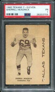 1960 7-Eleven Dallas Texans (now Kansas City Chiefs) Sherrill Headrick PSA 1