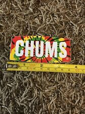 Chums Eyewear Sticker Decal Tie Dye Retainer Sunglasses Skate Surf Eye Wear 3.5""