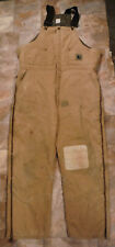 Mens BERNE Apparel Insulated Duck Overall sz L ~ Cold Weather ~ Quilted Lined