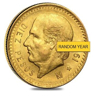 10 Pesos Mexican Gold Coin (Random Year)