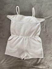Matalan Girls Age 3 Years White Toweling Short Playsuit