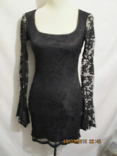 LADIES *GUESS COLLECTION* LACE FITTED MINI DRESS BLACK SZ 2 (XS) IMMACULATE.