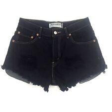 Levi's 505 Women's W30 Distressed Black Denim Shorts