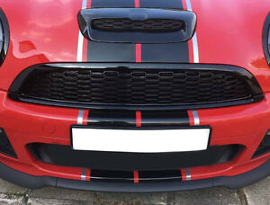 Mesh Front Grille Set for Mini Cooper S R55 R56 R57 R58 R59 Gloss Black painted