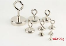 1PCS Super Strong Rare Earth Round Neodymium River Fishing Magnet Eyebolt small