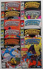 SPEEDBALL 1988 - COMPLETE SET - ISSUES #1-10 - STEVE DITKO ART - HIGH GRADE