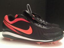 Nike Air Zoom Cooperstown V 5 Metal Baseball Cleats Spikes Sz 16 US Blk Orange