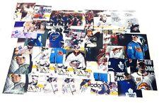NHL 38 SIGNED PHOTO LOT MANY STARS LUKE SCHENN TYLER MYERS OWEN NOLAN