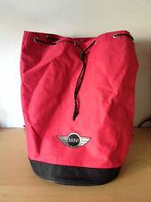 Used  Backpack Petate  MINI  Bolsa  Hieght 47 cm Diameter 30 cm - Red color rojo