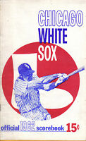 1962 MLB Baseball program, Chicago White Sox vs. Baltimore Orioles, unscored ~Fr