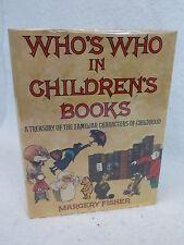 Margaret Fisher  WHO'S WHO IN CHILDREN'S BOOKS Illust'd Holt  1st Editon  c.1975