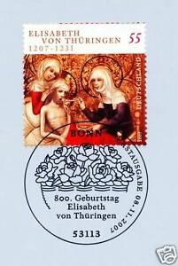 Frg 2007: Holy Elisabeth By Thüringen No. 2628 With Bonner Stamp !1A! 158