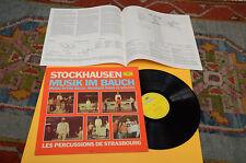 STOCKHAUSEN LP MUSIK IN BA ORIG GERMANY EX++ AVANT GARDE CONTEMPORARY ELECTRONIK