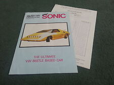 1983 Albar Sonic Jet Buggy - 162-Prospekt-VW Käfer basierte Kit Auto